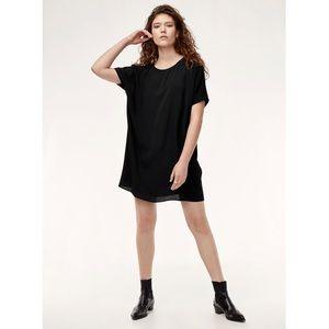 wilfred free / aritzia lbd black mini dress casual